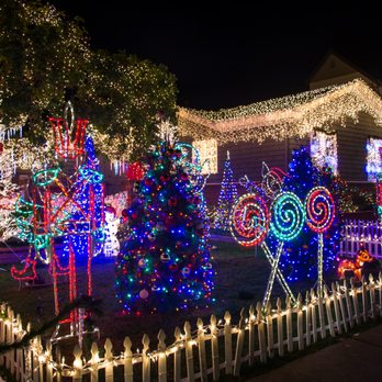 photo of christmas tree lane san carlos ca united states