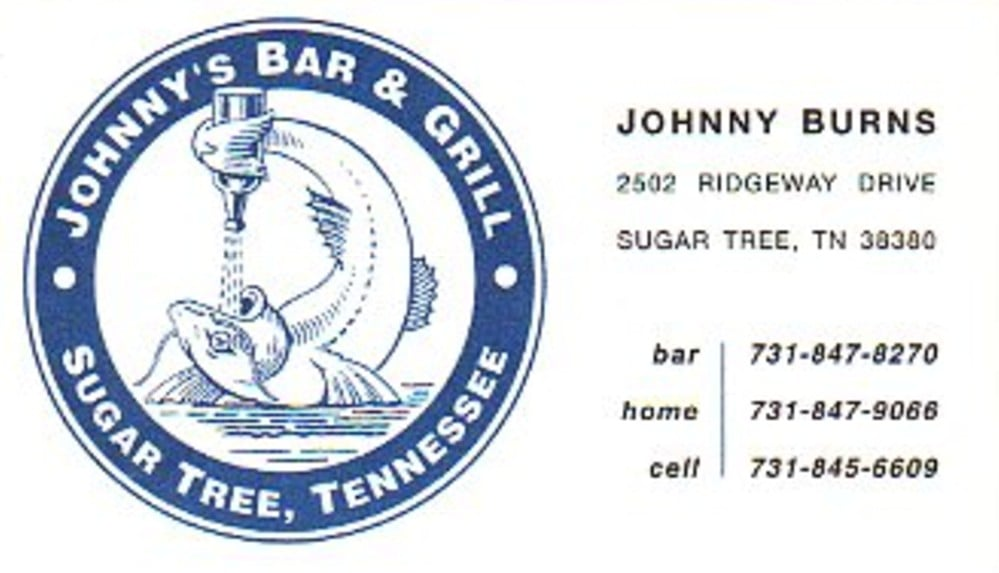 Johnny's Bar: 424 Cherokee Heights Rd, Parsons, TN