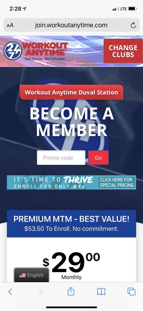 Workout Anytime Duval Station