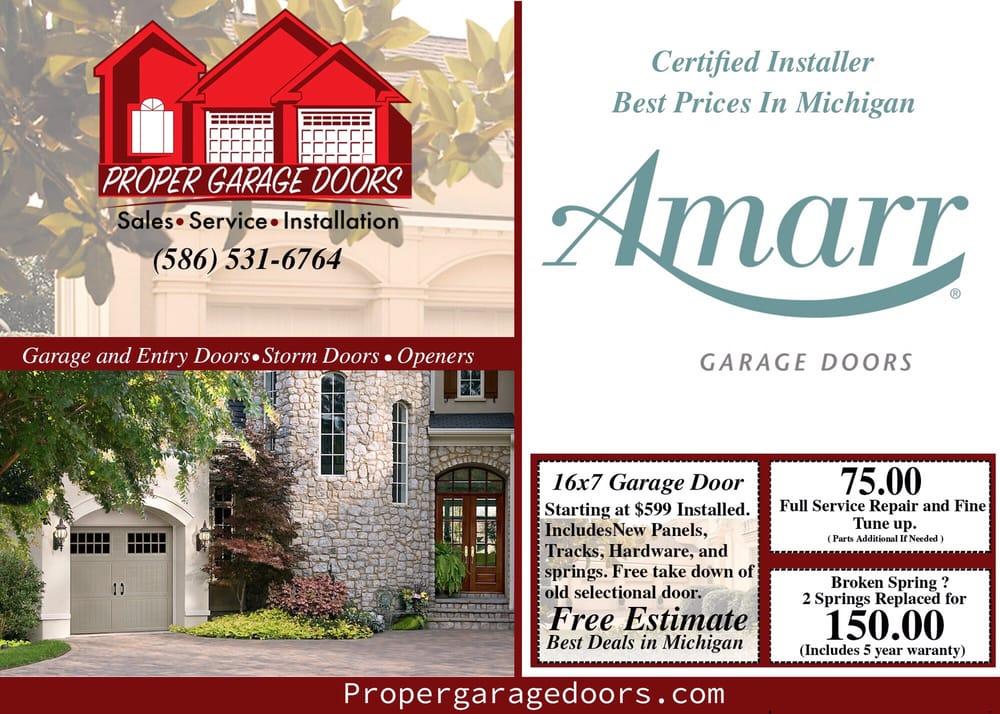 Proper Garage Doors Garage Door Services 15938 Angelo Dr Macomb