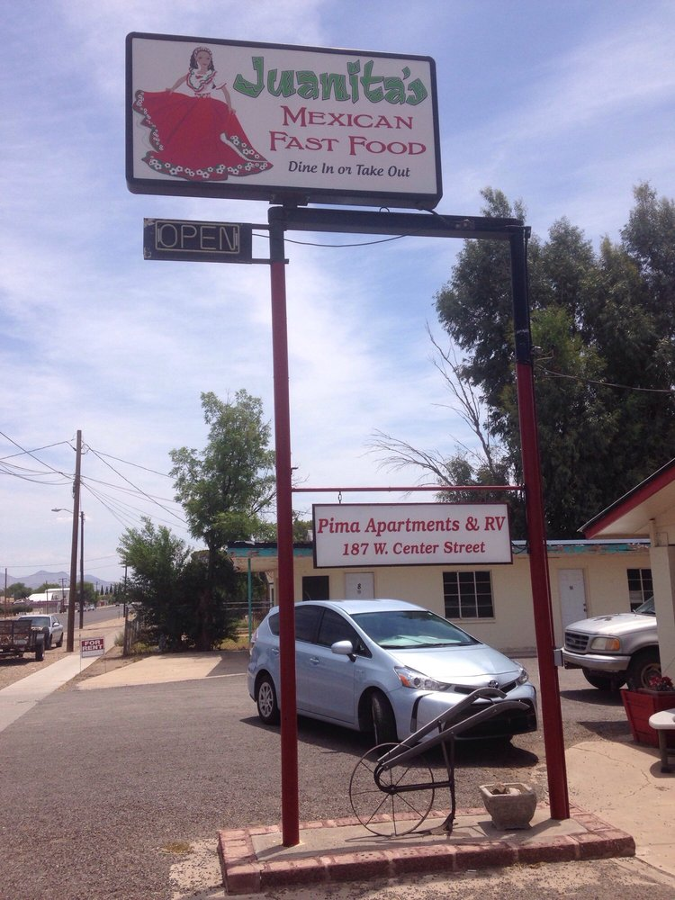 Juanitas Mexican Fast Food: 187 West Center St, Pima, AZ