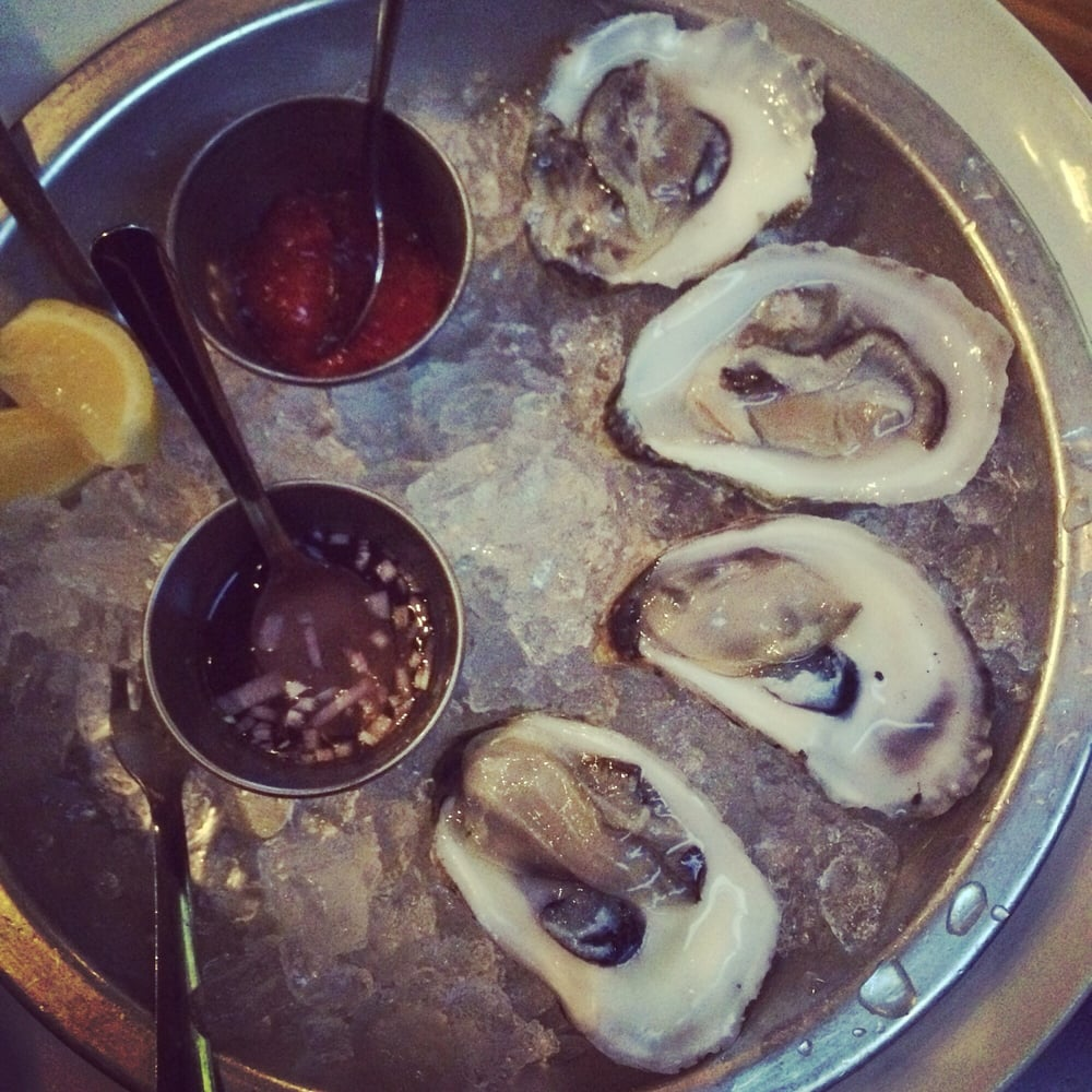 Oyster on half yelp for Humboldt farm fish wine