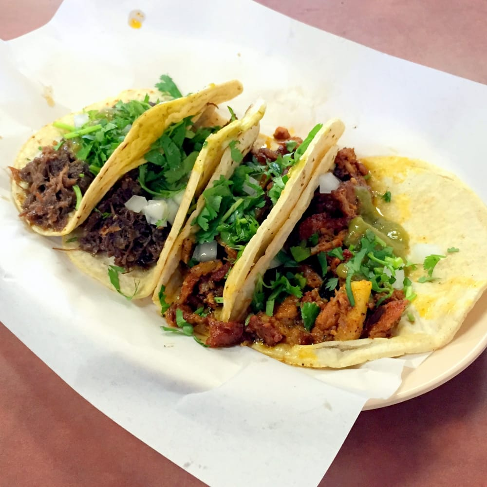 Two Barbacoa Tacos And Two Al Pastor Tacos Yelp
