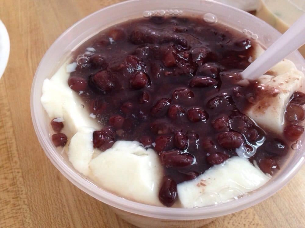 ... States. Dessert! Dou fu hua jia hong dou, sweet tofu with red bean