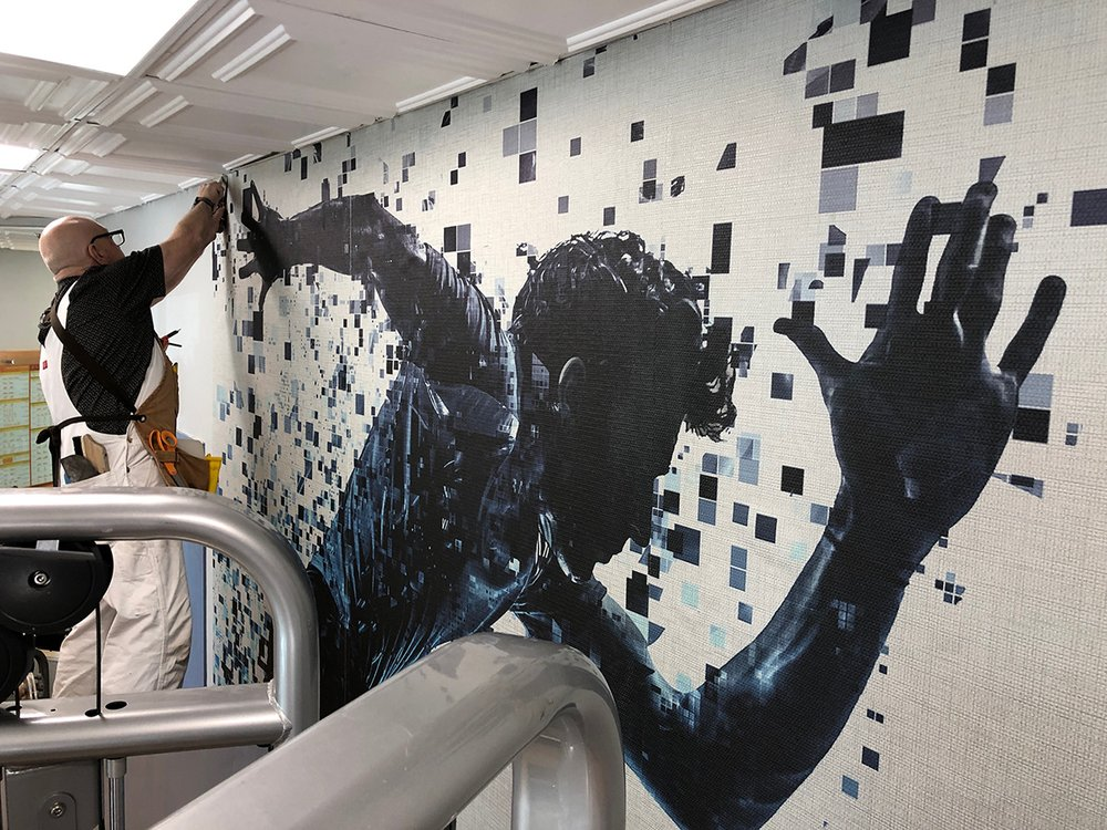 Patrick Shields Wallpaper & Mural Installation: Washington, DC, DC
