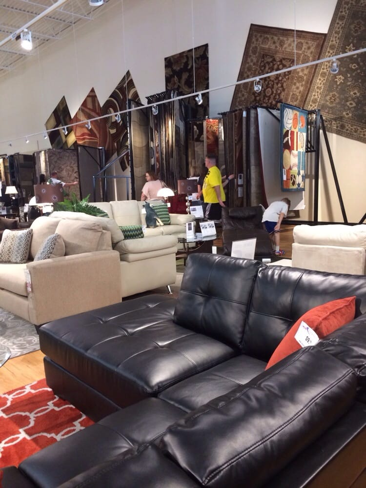 Lots of area rug choices good prices yelp for All american furniture warehouse