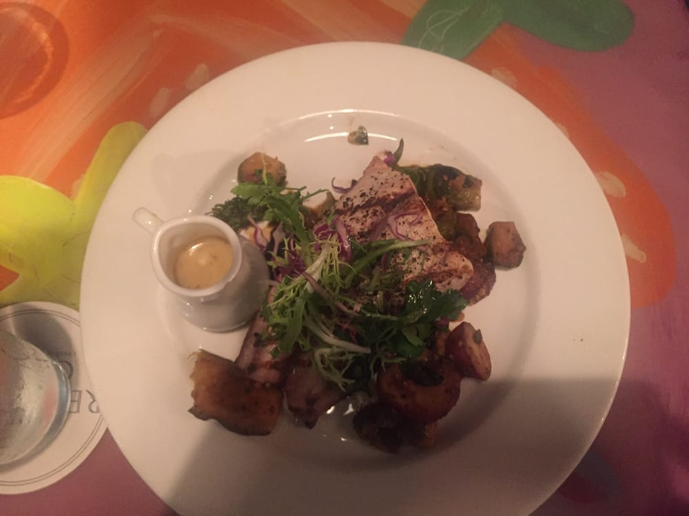 Redfish with farm rise vege and lemon butter sauce yelp for Red fish grill new orleans