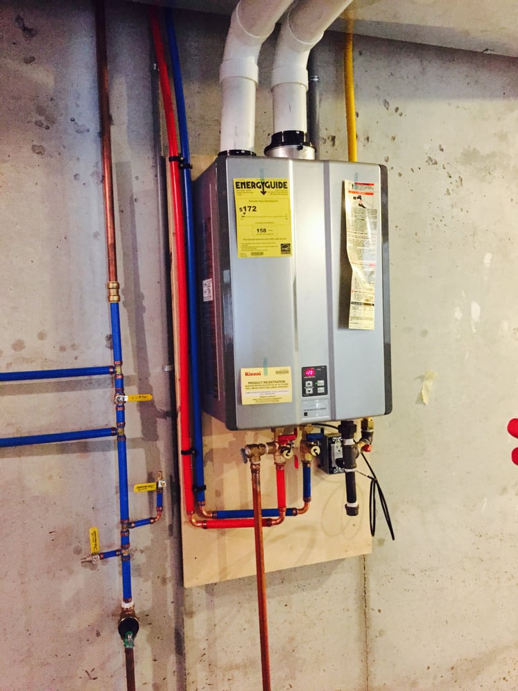 A Rinnai Tankless Water Heater Beautifully Installation