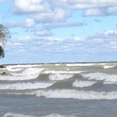 Photo Of Lee Street Beach Evanston Il United States Roaring Waves At
