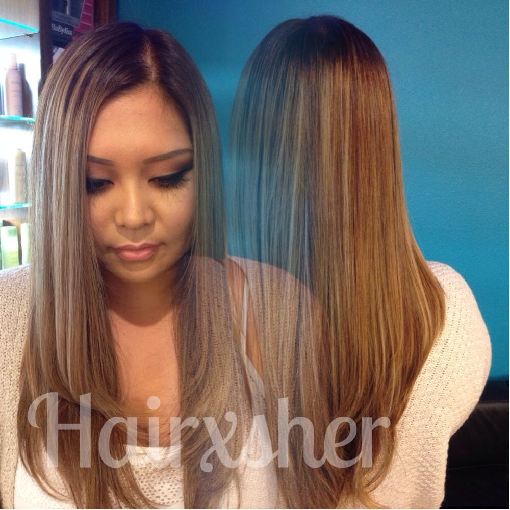 Rooted Balayage Ombr 233 Haircut By Sherry Hairxsher Yelp