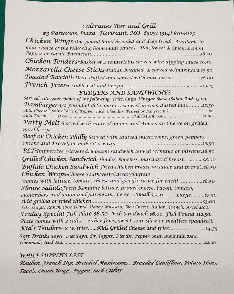 Coltranes Bar & Grill: 3 Patterson Plz, Florissant, MO