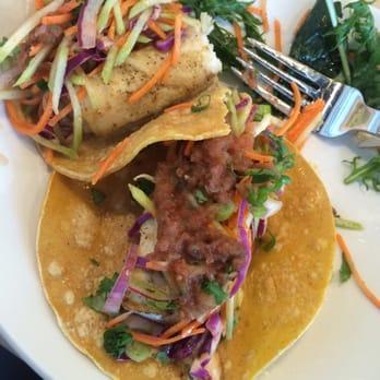 Photo Of LYFE Kitchen   Boulder, CO, United States. Gluten Free Fish Tacos