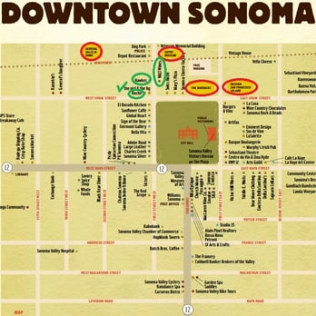 Photo Of Sonoma Plaza Ca United States The Red Circles Are