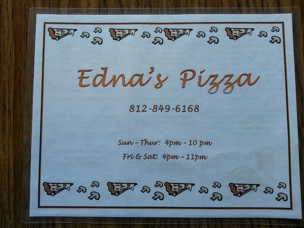 Edna's Pizza: 914 Orchard St, Mitchell, IN