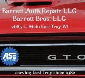 Barrett Brothers Auto Service: 2683 Main St, East Troy, WI