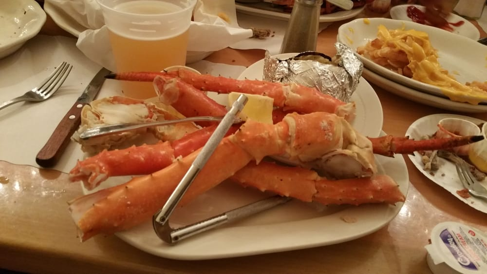 Alaskan King Crab Legs With Baked Potato And Drawn Butter Yelp