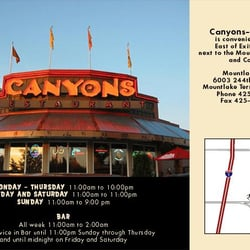 Canyon s restaurant gesloten 18 reviews restaurants for 6009 sw 244th mountlake terrace wa