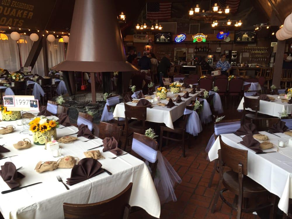 Photo of Mt Charleston Lodge Restaurant - Las Vegas NV United States. Beautifully & Beautifully set up wedding reception tables. - Yelp