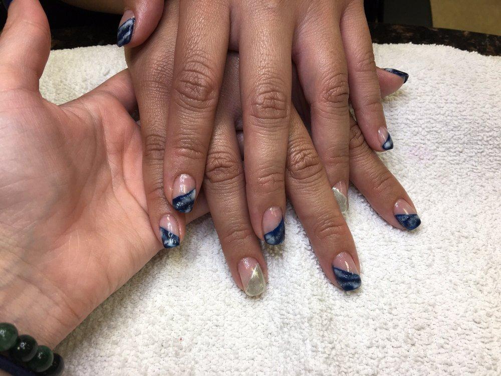 Gel-Polish half nail, galaxy design. - Yelp