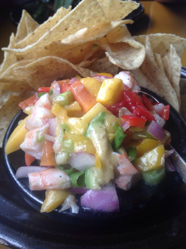 Tropical shrimp salsa appetizer at 7fish in keywest yum for Seven fish key west fl