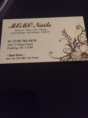 Momo nails 163 17 depot rd flushing ny manicurists mapquest reheart Gallery