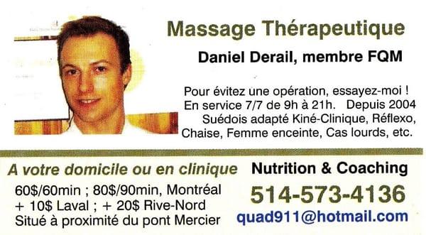 Massage Par Daniel Derail Chez CAJH