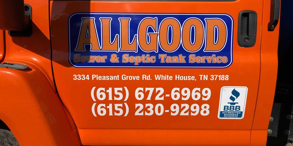 Allgood Sewer and Septic Tank Service: 3334 Pleasant Grove Rd, White House, TN