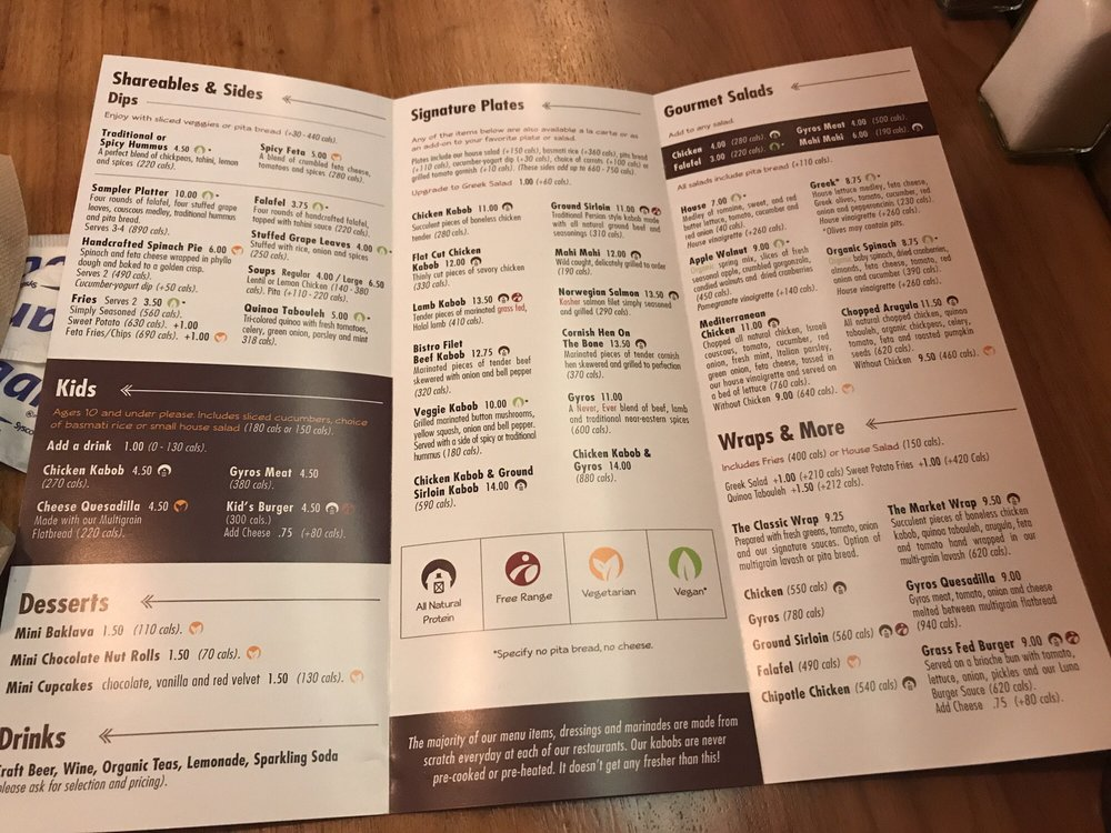 Menu at Luna Grill  They have adoptions for everyone! - Yelp