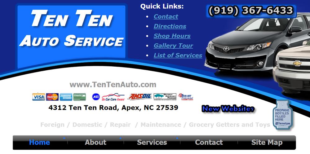 Ten Ten Auto Service: 4312 Ten Ten Rd, Apex, NC