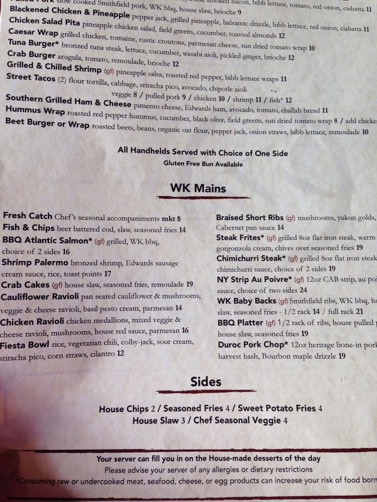 Menu post 3 yelp for Whiskey kitchen virginia beach