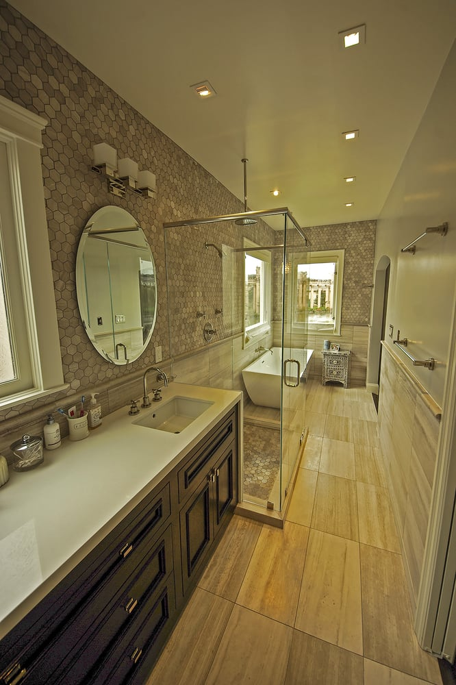 Limestone Tile Bathroom Remodel In Marina District San Francisco Yelp