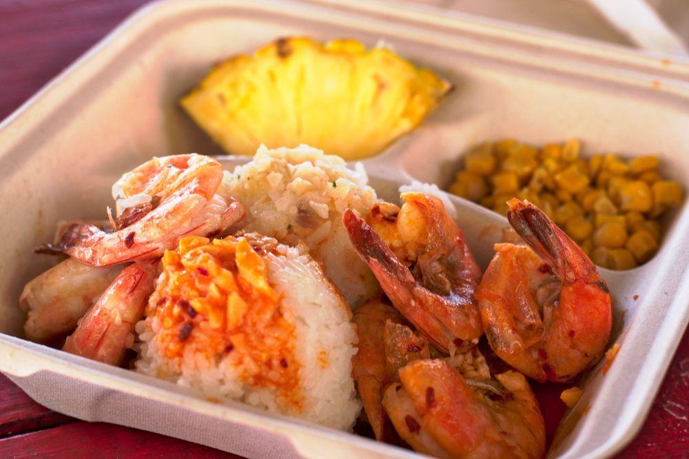 Food from Fumi's Kahuku Shrimp