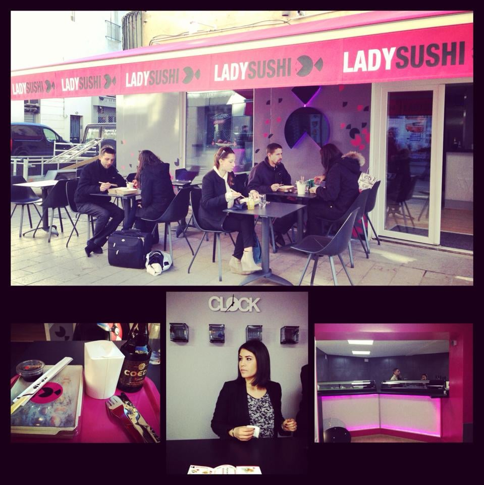 lady sushi sushi bars 15 rue faubourg de la saunnerie montpellier france restaurant. Black Bedroom Furniture Sets. Home Design Ideas
