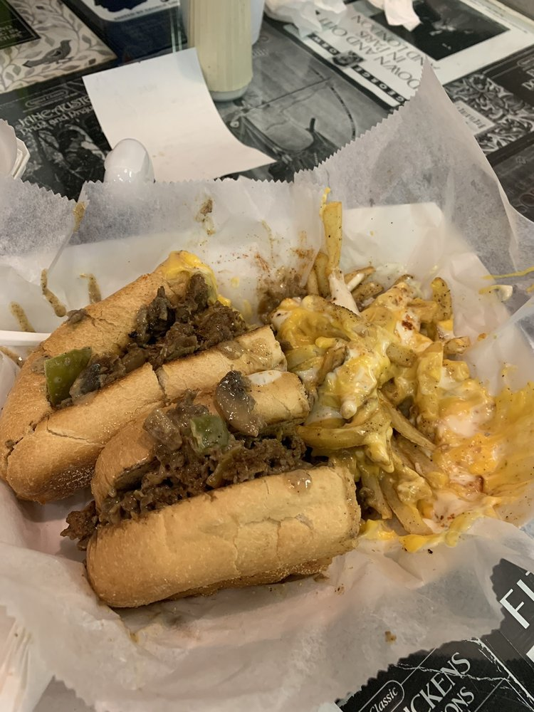 Food from T-Bone's Authentic Philly Style Cheesesteaks and Hoagies