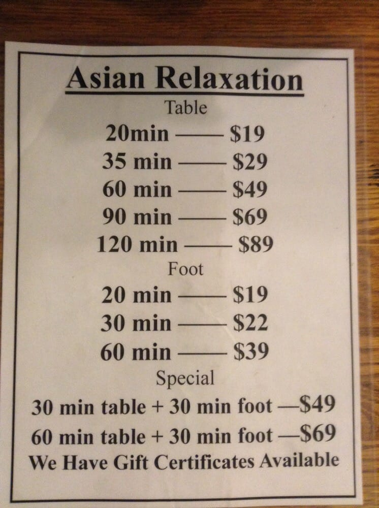 Asian Massage In Santa Maria Ca