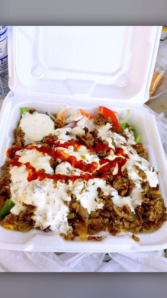 Food from Egyptian Grill