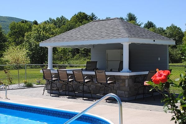 10 X 14 Hip With Bar Pool House This Poolhouse With Bar