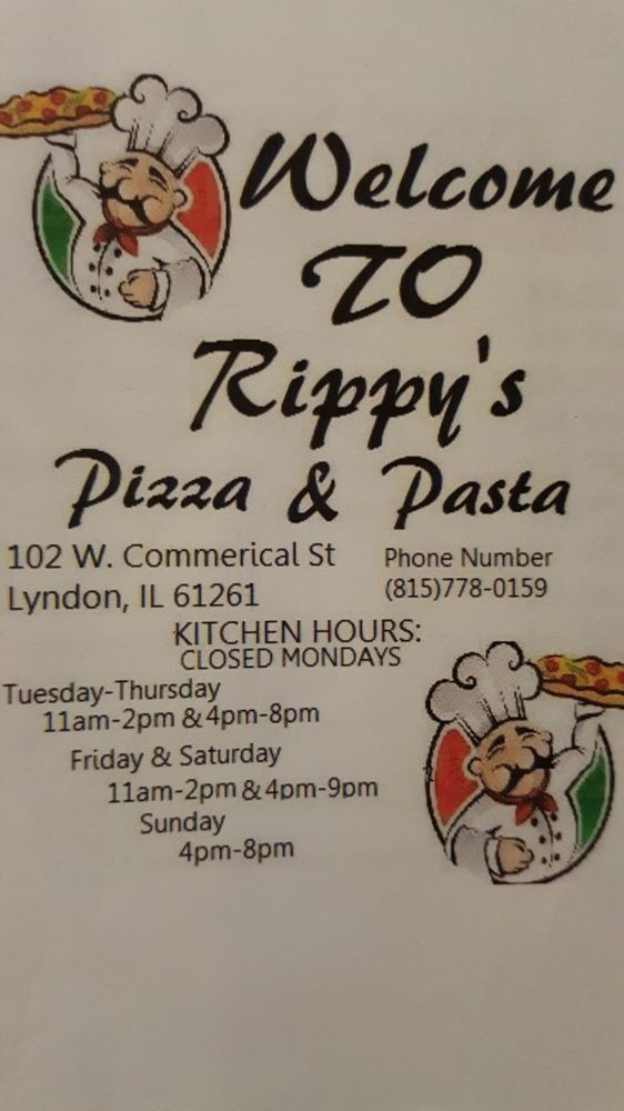 Rippy's Pizza and Pasta: 102 W Commercial St, Lyndon, IL