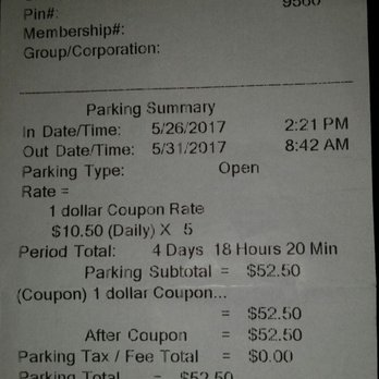 Oakland airport economy parking coupons