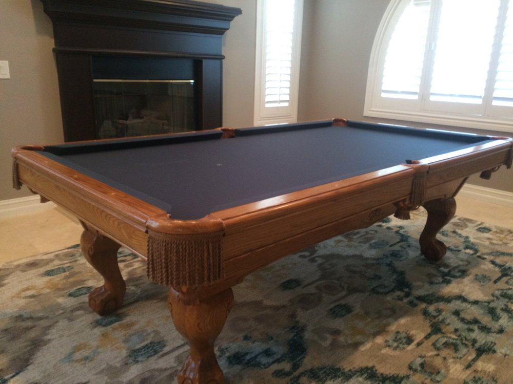 Restored And Repaired Brunswick Table With New Titanium Felt Thanks - Brunswick mission pool table