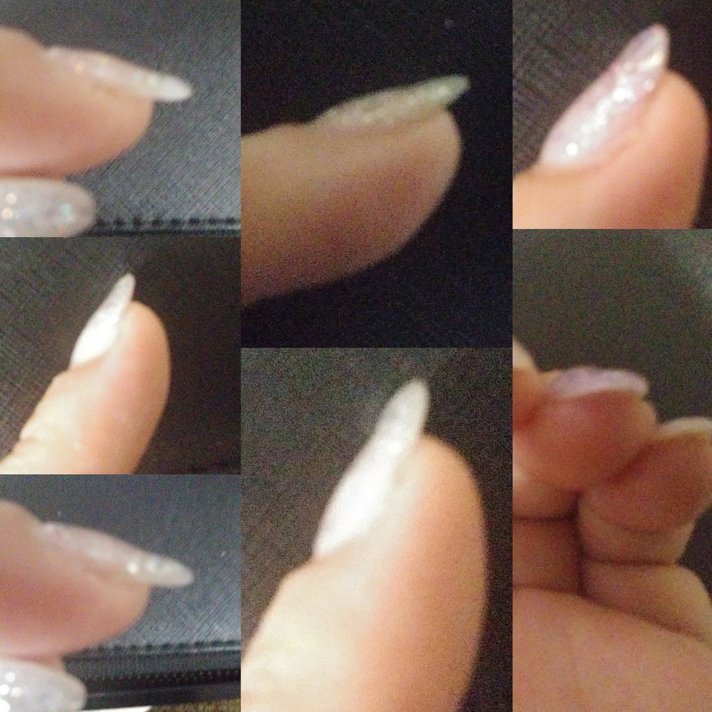 All my nails had ugly bumps and dips from the gel polish being ...