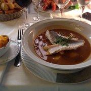 Restaurant Chez Loury - Marseille, France. Bouillabaisse accompagné de rouille succulent
