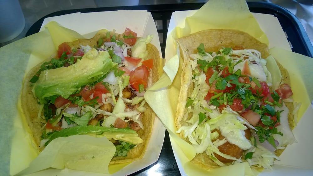 Seafood taco especial and regular fish taco yelp for Oscars fish tacos san diego