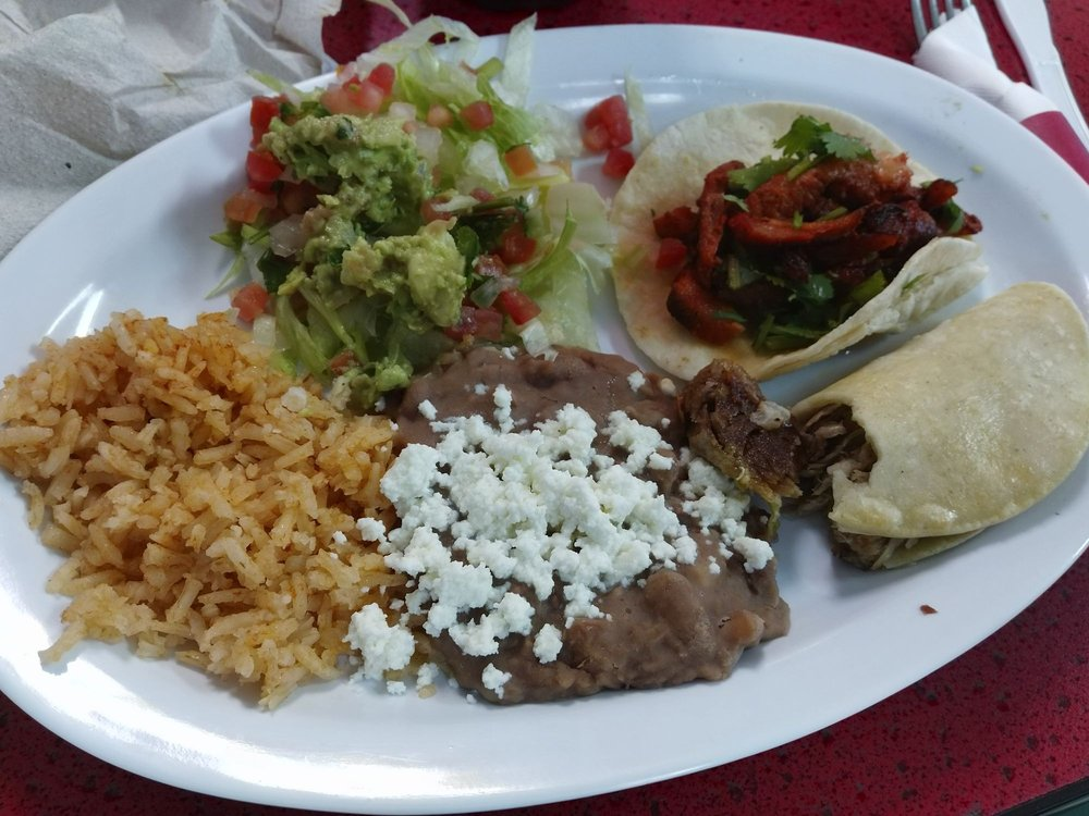 Food from Tacos Blanquita