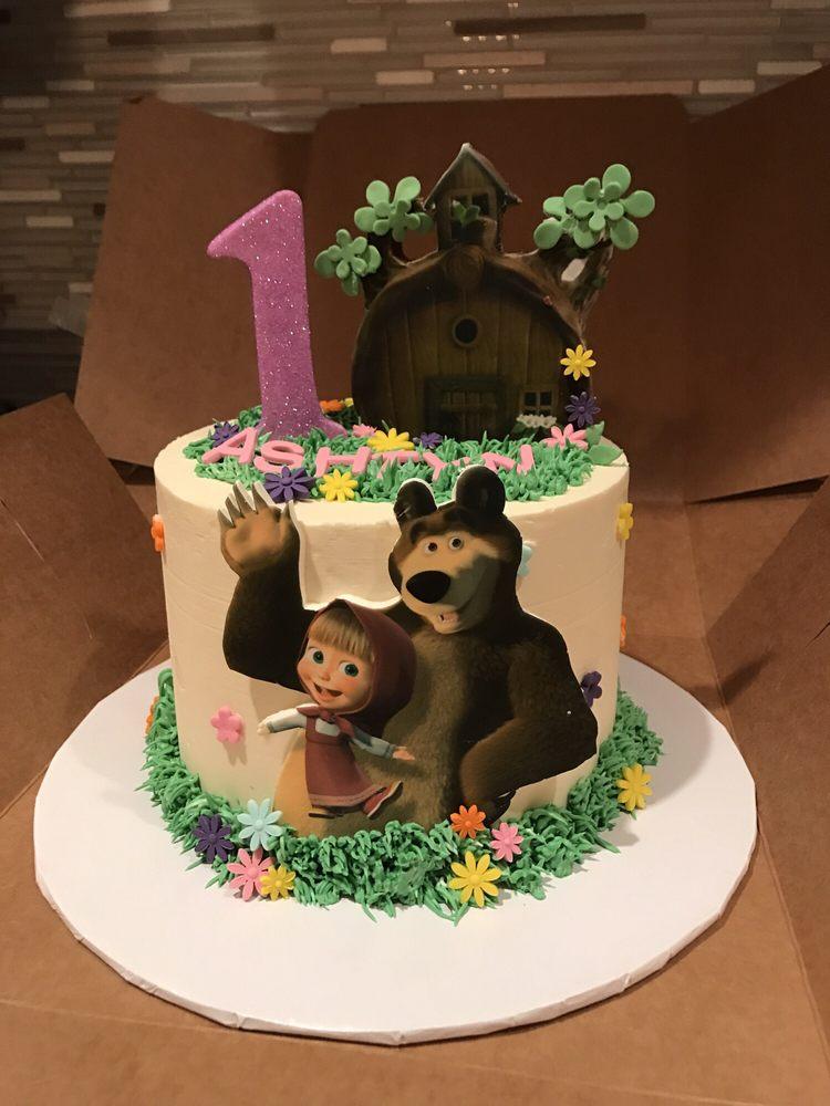 Happy 1 Year Birthday Cake Masha And The Bear Aka Masha Y