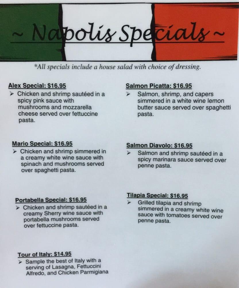 Napoli's Italian Restaurant: 2215 S Air Service Dr, Garden City, KS
