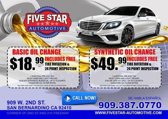 Five Star Automotive >> Five Star Automotive 909 W 2nd St San Bernardino Ca Auto Repair
