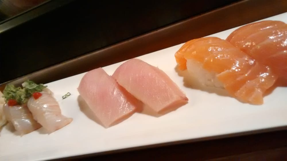 Sushi halibut albacore tuna and salmon yelp for Akira japanese cuisine nyc