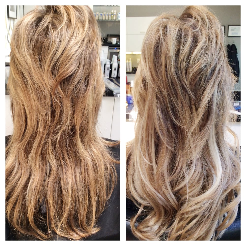 Before And After Balayage Then 100 Human A Hair Extensions For