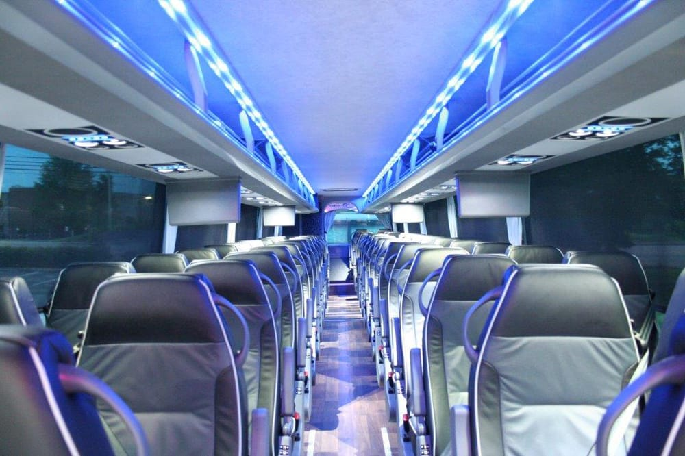Interior Of Our 56 Passenger Luxury Charter Bus Yelp
